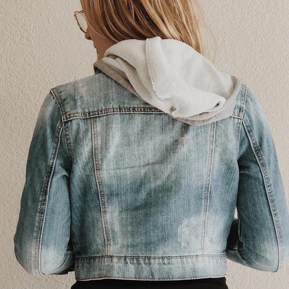 515f94e96ce Love Culture Jackets & Coats | Jean Jacket Hoodie | Poshmark